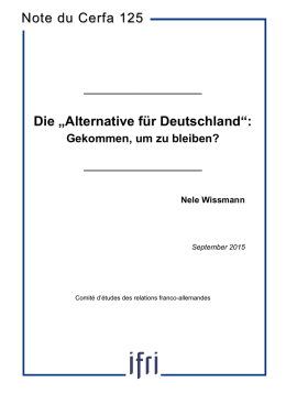 Alternative für Deutschland - Deutsch