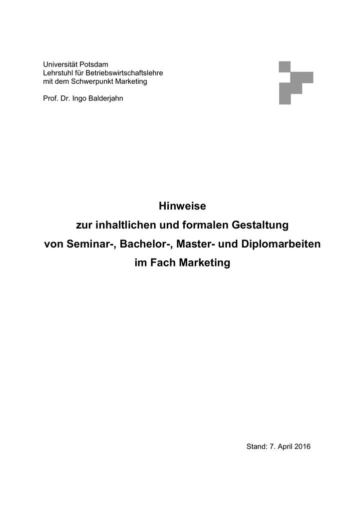 deckblatt dissertation uni potsdam