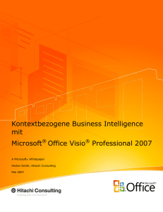 Visio 2007 BI Whitepaper - Microsoft Center