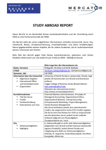 STUDY ABROAD REPORT