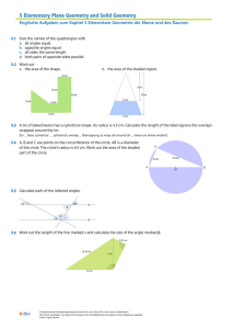 5 Elementary Plane Geometry and Solid Geometry