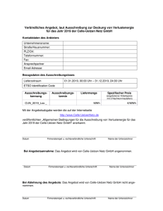 Angebotsformular 2019 - Celle