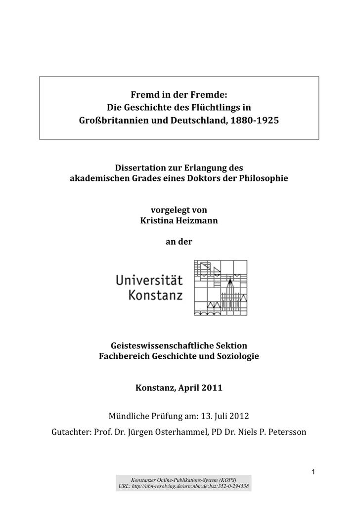 Öffnen - KOPS Konstanz