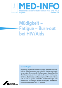 Müdigkeit – Fatigue – Burn-out bei HIV/Aids - Deutsche AIDS
