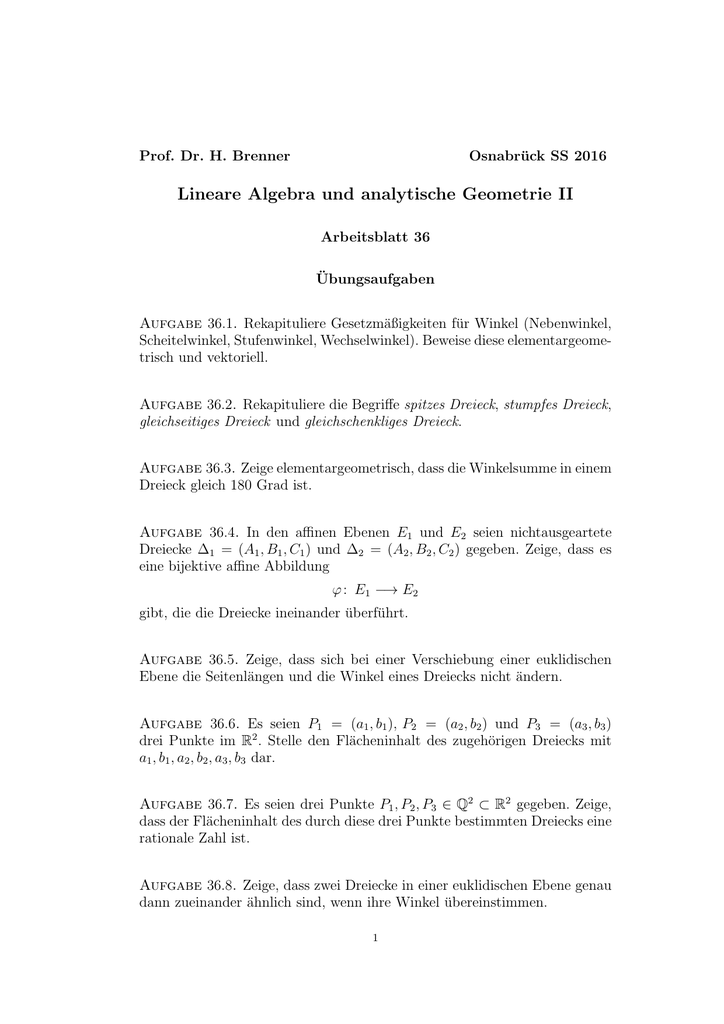 Großzügig Geometrie Arbeitsblatt Kongruente Dreiecke Antworten ...