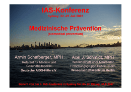 4. IAS Conference in Sydney - Nachlese