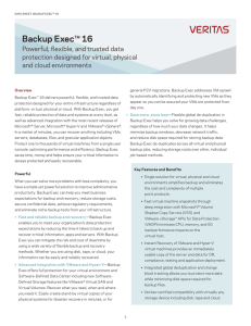 Data Sheet Veritas Backup Exec