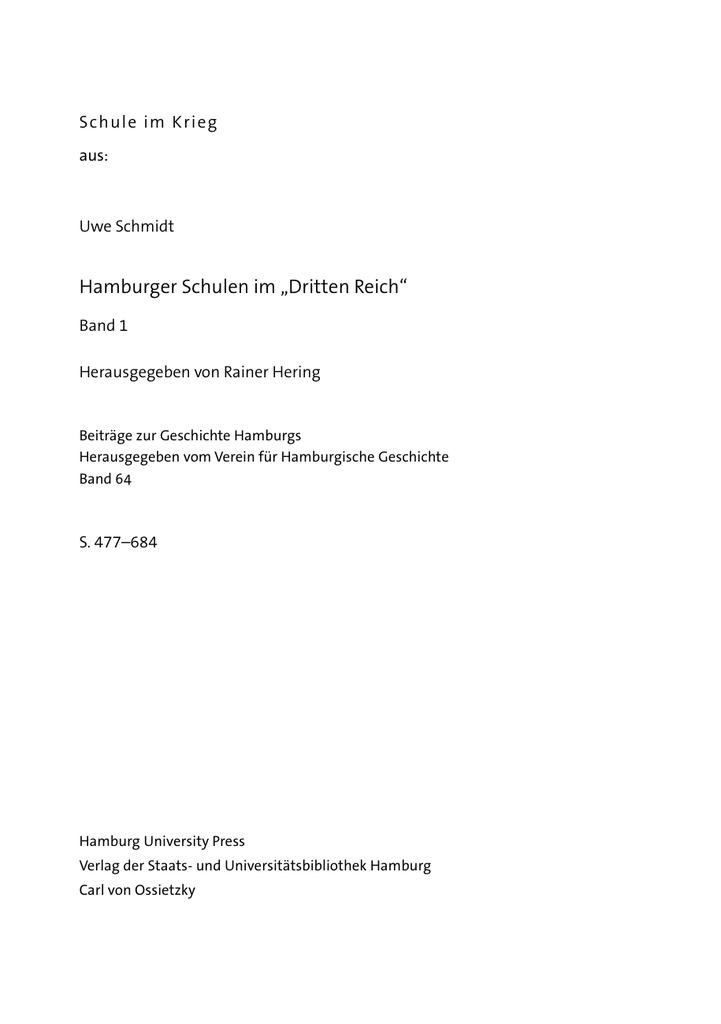 61cd519582 Schule im Krieg - Hamburg University Press