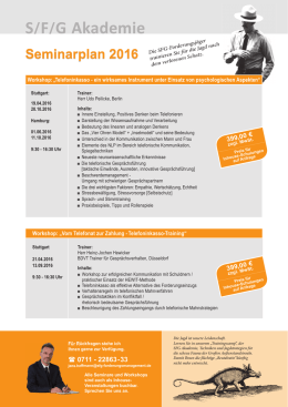 seminarplan 2016 - S/F/G Forderungsmanagement