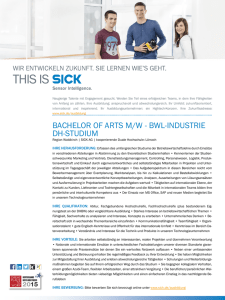 BACHELOR OF ARTS M/W - BWL-INDUSTRIE DH-STUDIUM