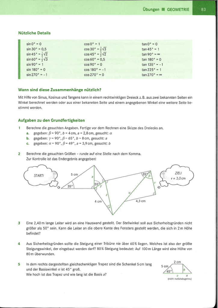 Groß Arbeitsblatt 4 Spezielle 30 60 90 Dreiecken Antworten ...