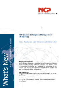 What`s New - NCP engineering GmbH