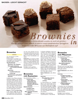 Brownies in allen Variationen.