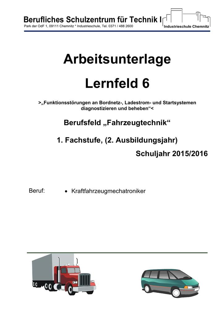 Arbeitsunterlage Lernfeld 6