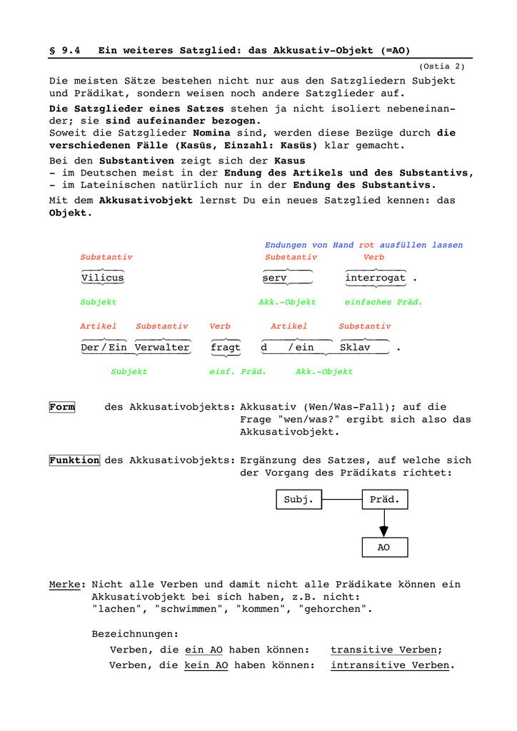 Dorable Transitiv Und Intransitives Verb Arbeitsblatt Und Antworten ...
