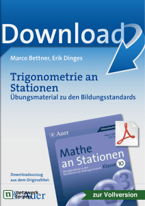 Trigonometrie an Stationen