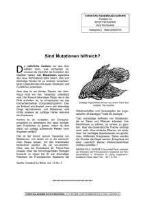 Sind Mutationen hilfreich? - Christian Assemblies International