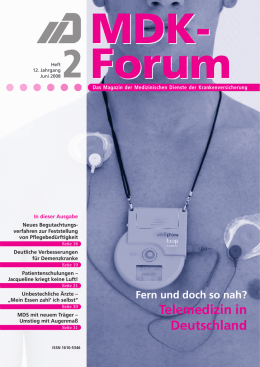 MDK-Forum Heft 2/2008
