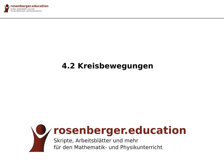 4.2 Kreisbewegungen - rosenberger.education