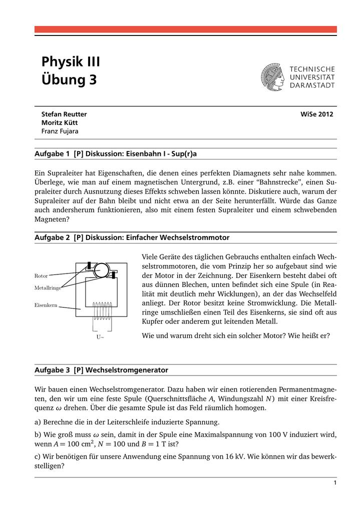 Physik III Übung 3
