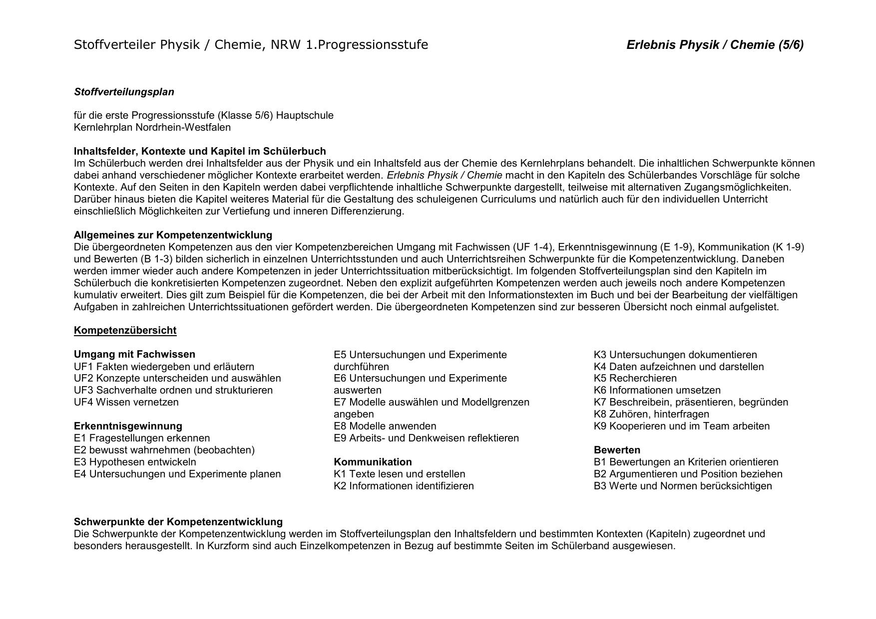 Erlebnis Physik (5/6) - Schulbuchzentrum Online