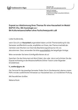 Fachbereich Iv Soziologie Deckblatt Und Eidesstattliche Erklarung