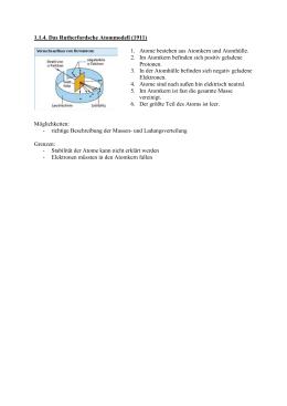Grundwissen Atom Arbeitsblatt