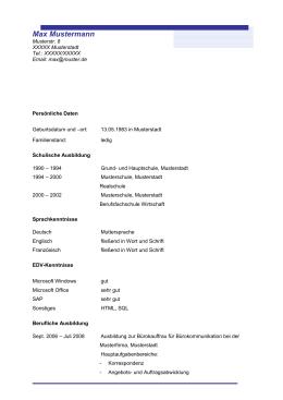 Max Muster Ba Musterstraße 1 1234 Musterstadt 43 664123 45