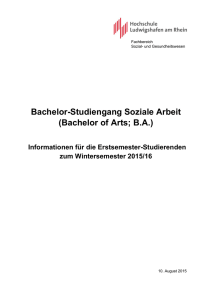 Bachelor-Studiengang Soziale Arbeit