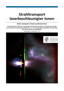 Strahltransport laserbeschleunigter Ionen - TUprints