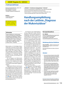 Diagnose der Mukoviszidose
