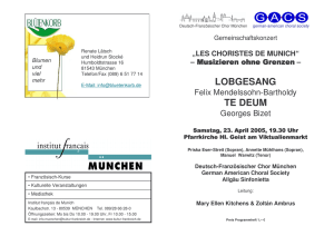 Programm - Munich International Choral Society