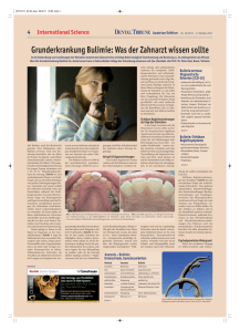 Grunderkrankung Bulimie - Dental Tribune International