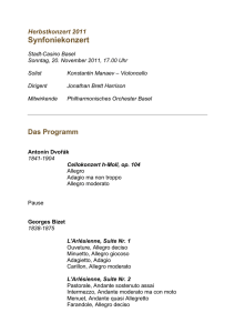 Programm - Philharmonisches Orchester Basel
