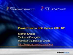 PowerPivot in SQL Server 2008 R2 Teil 2: Die Serverseite