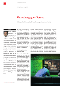 Gutenberg goes Screen
