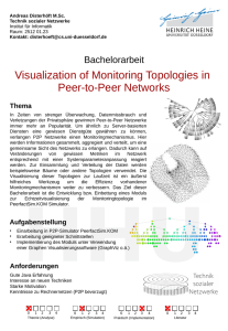 Visualization of Monitoring Topologies in Peer-to