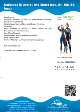 Sub Gear - Definition IR Overall und Weste Man, Gr. 102 (52 lang)