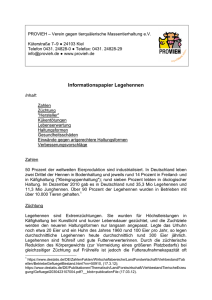 Informationspapier Legehennen