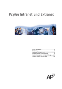 P2plus Intranet und Extranet