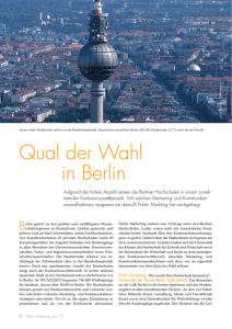 Die Qual der Wahl - Public Marketing