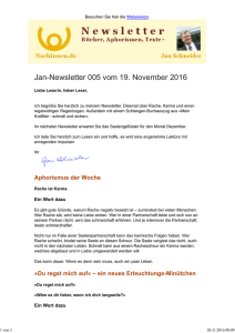 Jan-Newsletter 005 vom 19. November 2016