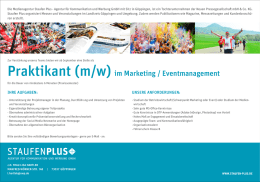 praktikant (m/w) im Marketing / eventmanagement