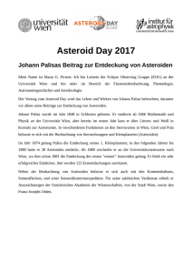 Asteroid Day 2017 - Universität Wien