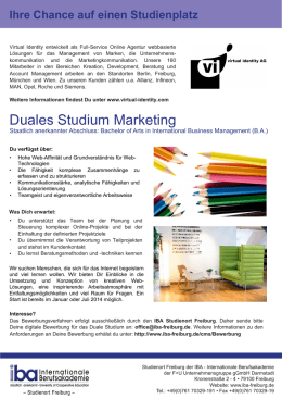 Duales Studium Marketing