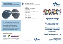 Integrationskurs – Flyer zum