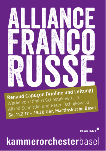Alliance Franco Russe - Kammerorchester Basel