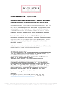 PRESSEINFORMATION – September 2014