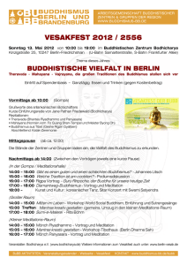 vesakfest 2012 / 2556 - Buddhismus in Berlin