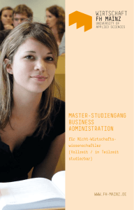 master-studiengang business administration - IDW